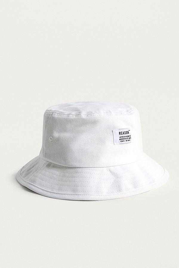8b512121 Reason White Bucket Hat   Urban Outfitters UK