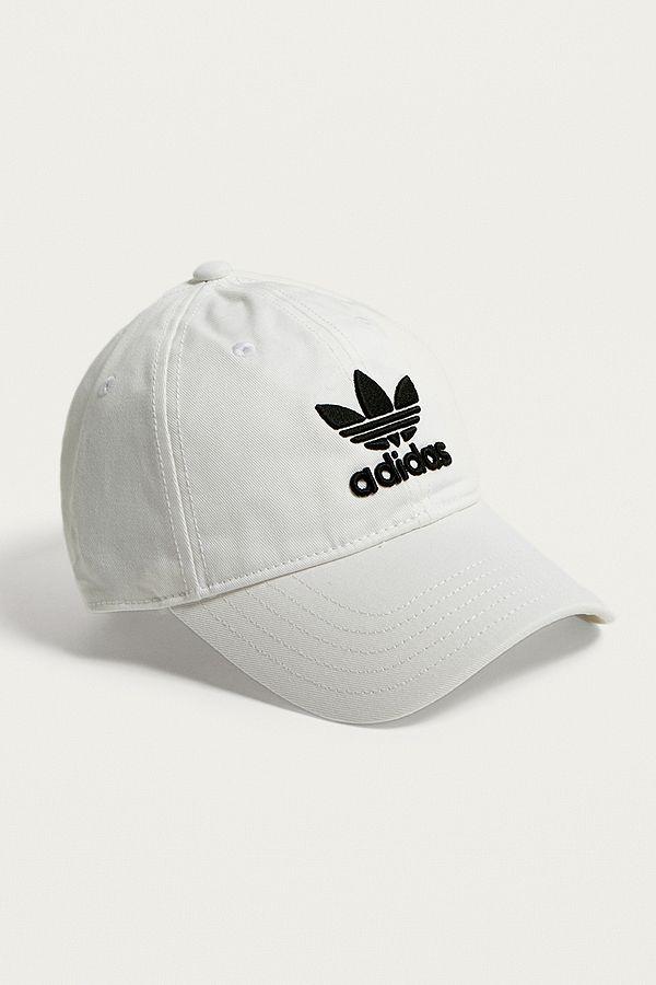 32e21306 adidas Originals White Trefoil Dad Cap | Urban Outfitters UK