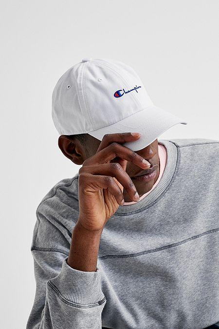 e55af14d975aa Champion Logo Script White Cap