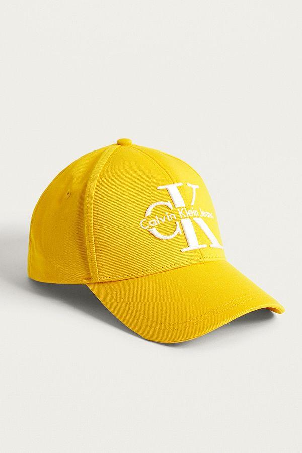 408b6910258 Calvin Klein Reissue Yellow Baseball Cap