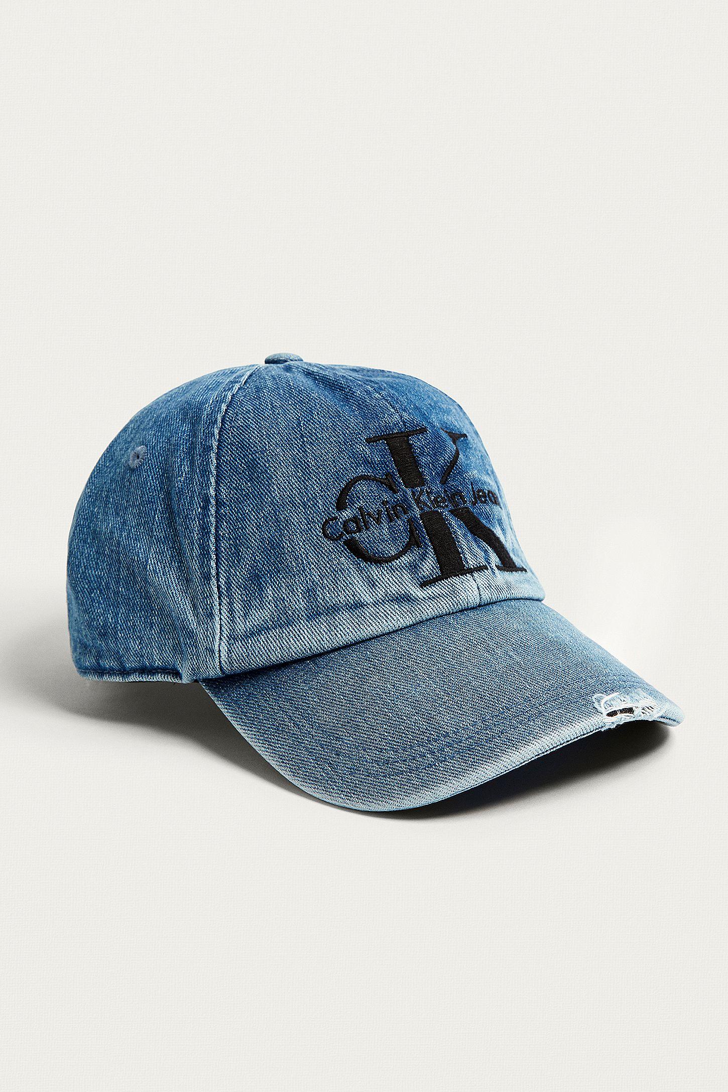 054a80ae6cb Calvin Klein Reissue Denim Baseball Cap