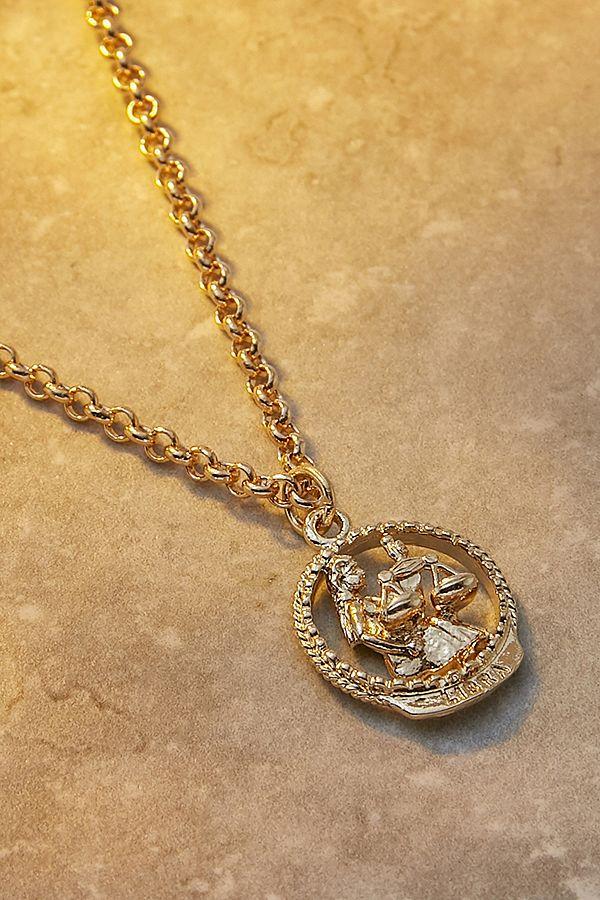Mirabelle – Vergoldete Halskette Mit Sternzeichen WaageAnhänger by Mirabelle Shoppen