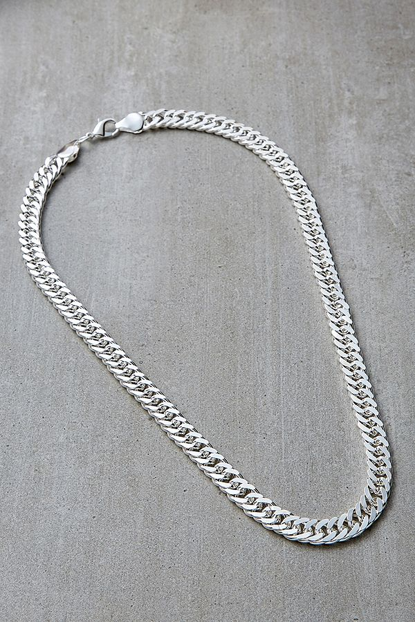 Collier Ras Du Cou Argent à Maillons Ronds by Urban Outfitters