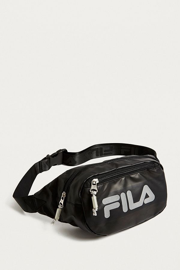 Slide View: 1: FILA Reflective Black Cross Body Bag