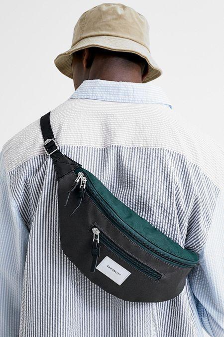 07d127d431c0 Sandqvist Aste Muilti-Deep Green and Dark Grey Cross Body Bag