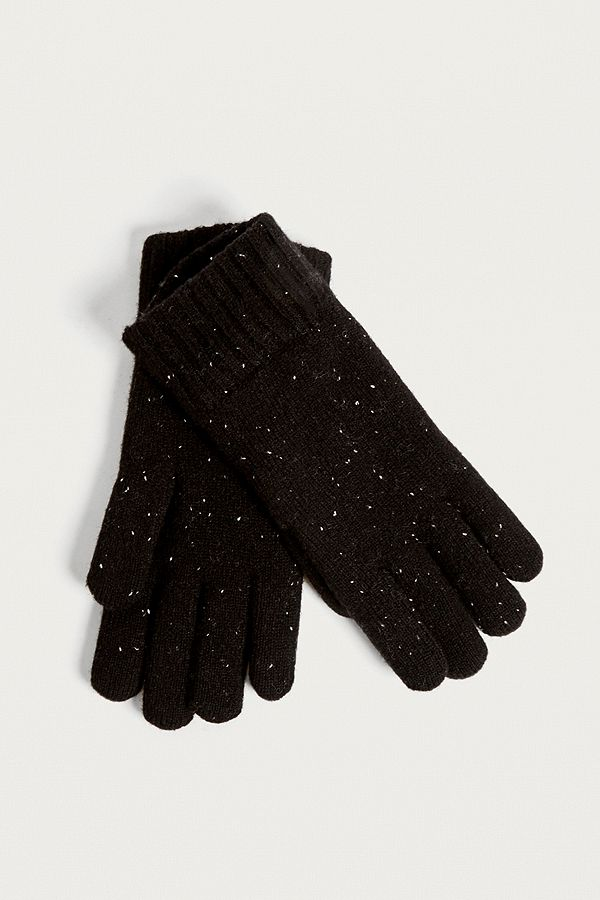 the best attitude d194d 52570 Urban Outfitters – Kuschelige, gefütterte Handschuhe in Schwarz