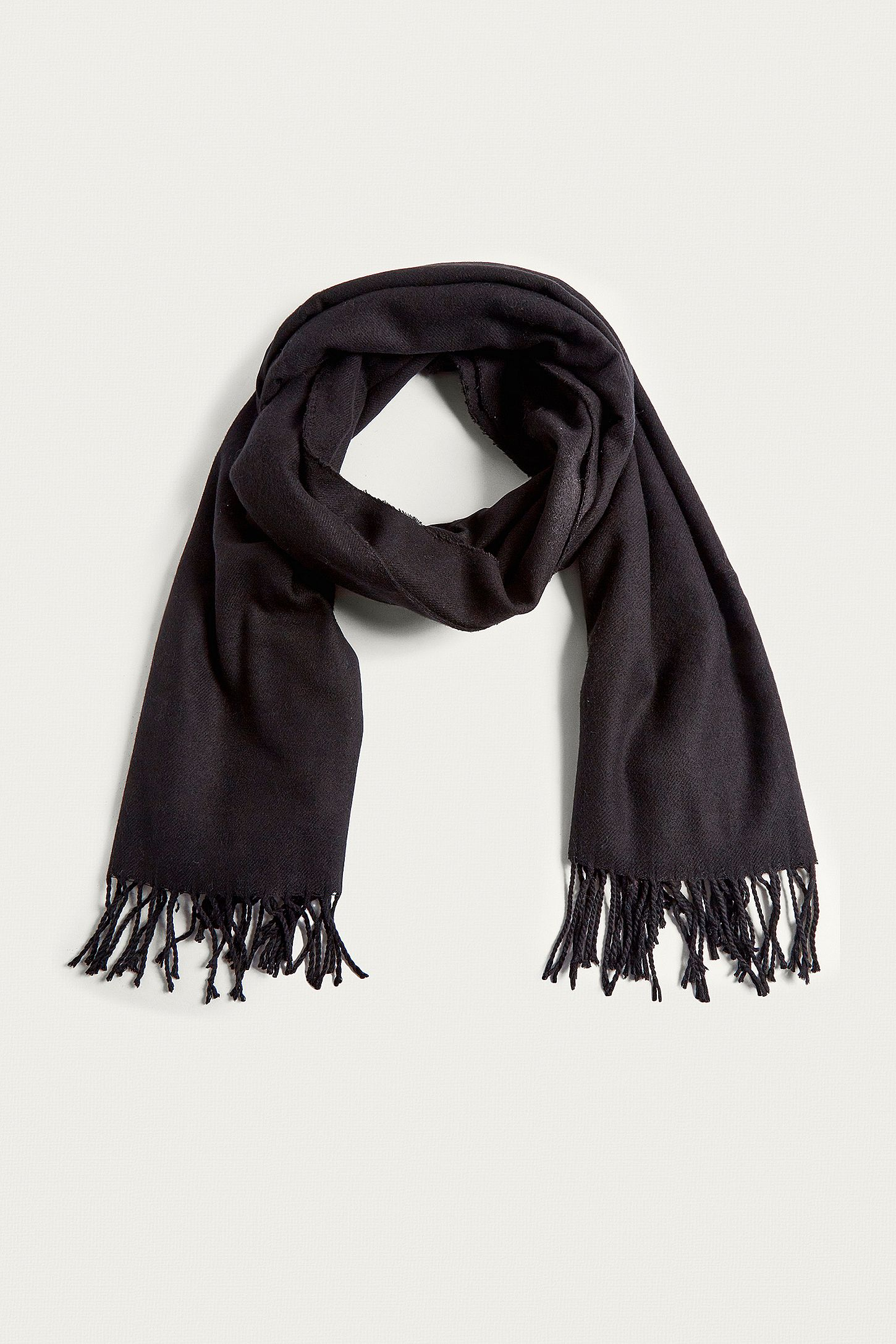 1f45b056c UO Oversized Black Scarf   Urban Outfitters UK