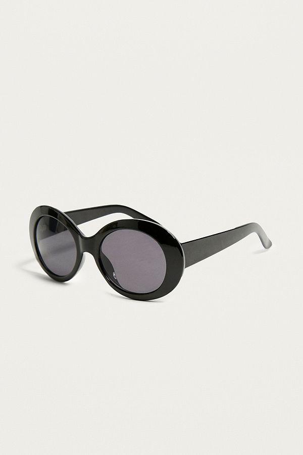 2442741ad7 UO  Kurt  Black Oval Sunglasses