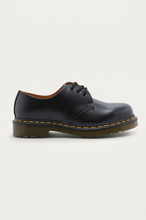 ed93a08eab Dr. Martens Black Leather 3-Eyelet Shoes | Urban Outfitters UK