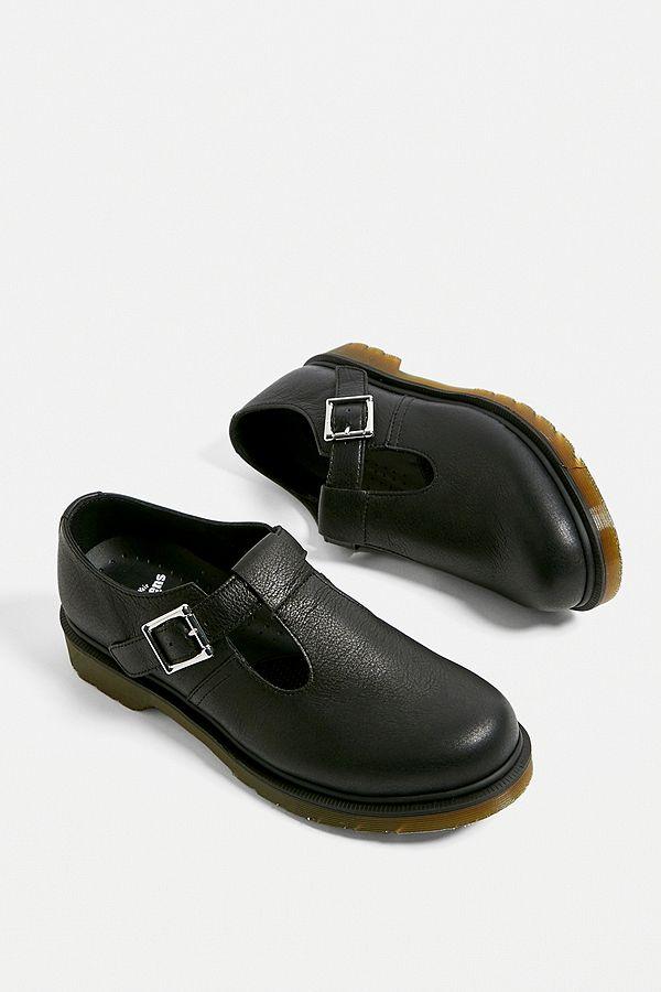 Shop Dr Martens Polley Virginia Black | Platypus Shoes