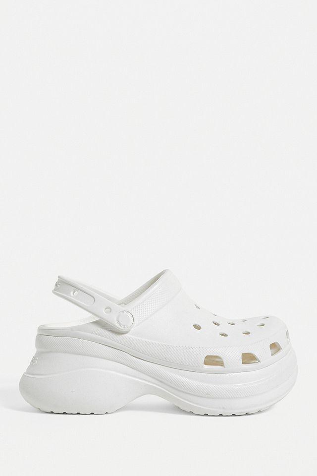 Crocs Classic Bae White Platform Clogs Urban Outfitters