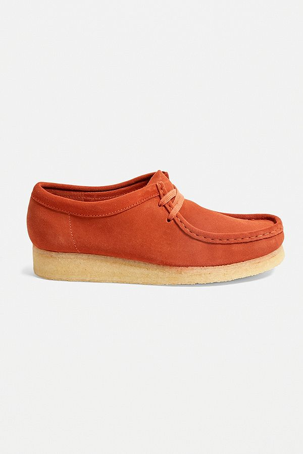 so cheap cheap price good looking Clarks Wallabee Burnt Orange Suede Shoes
