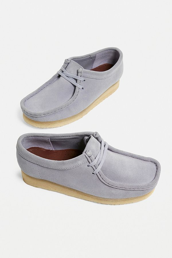 "Clarks – Schuhe ""Wallabee"" aus Wildleder in Blau"