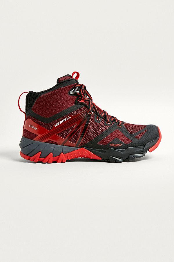 9ac9ffa00b6 Merrell MQM Flex Mid Red Waterproof Hiking Boots