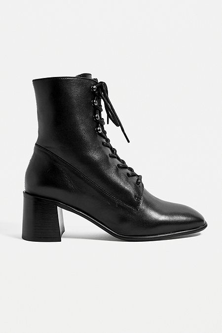 E8 By Miista Emma Black Lace-Up Boots