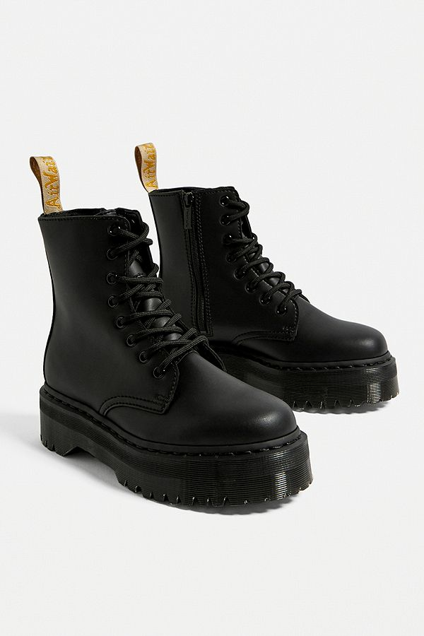 many fashionable run shoes details for Dr. Martens Jadon Vegan Leather Platform 8-Eye Boot | Urban ...