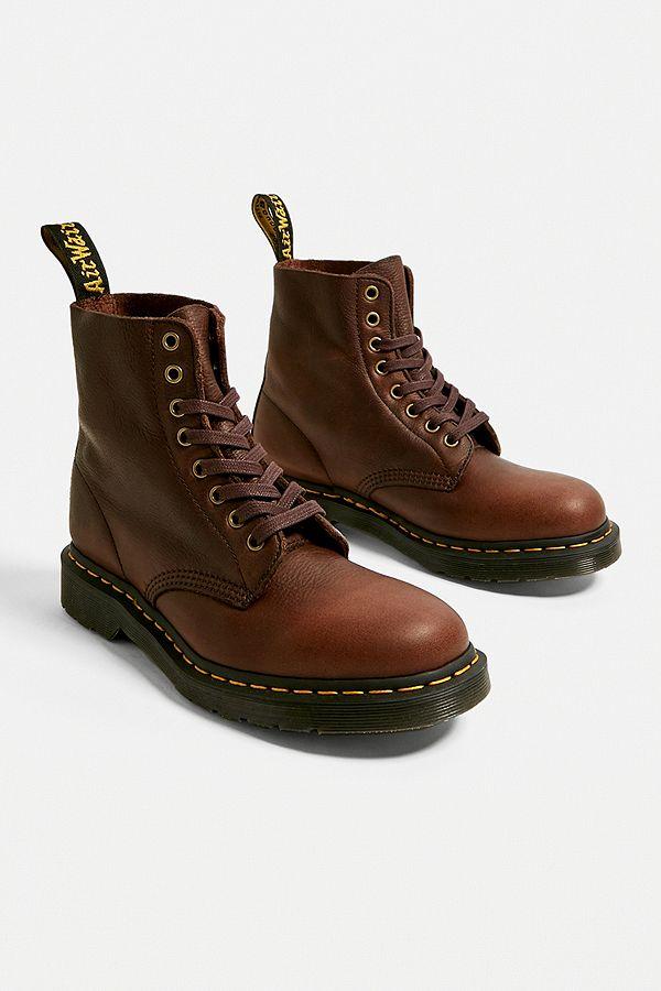 Sonderangebot attraktive Designs unverwechselbarer Stil Dr. Martens Pascal Dark Brown 8-Eyelet Boots