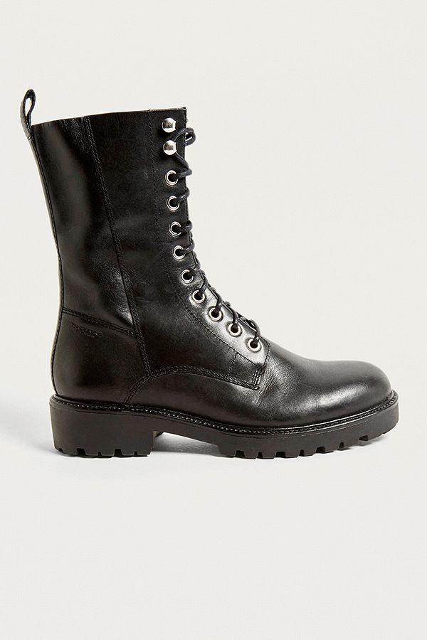 f361fc49daa Vagabond Kenova Black Leather Lace-Up Boots