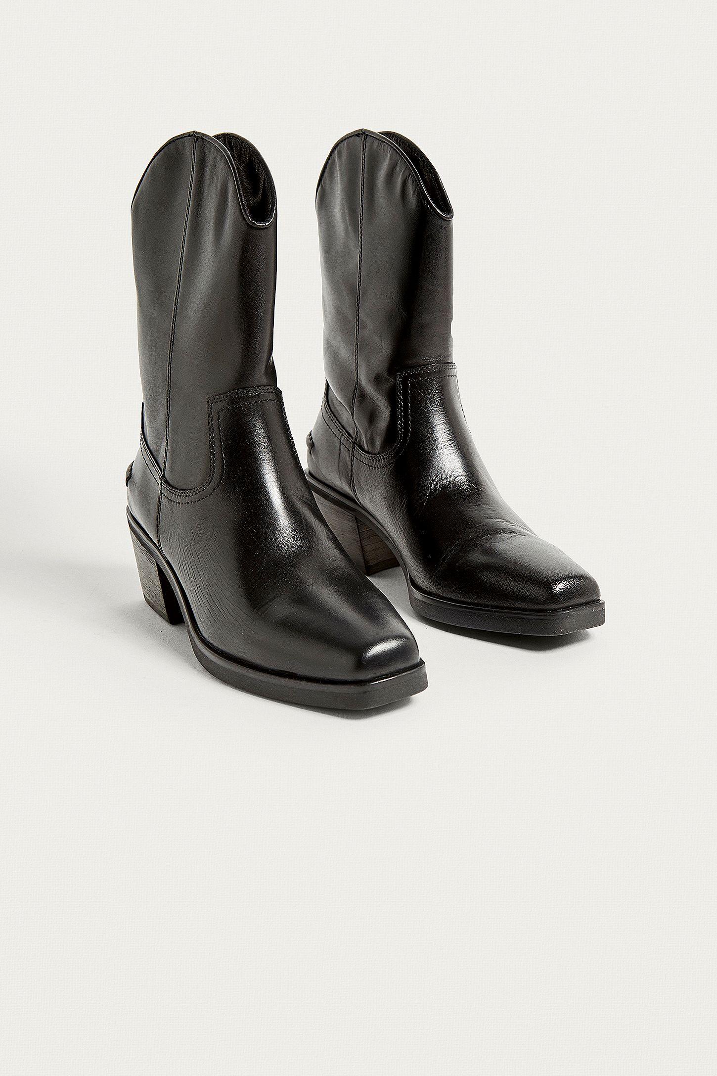 1f7fecafef4 Vagabond Simone Black Leather Cowboy Boots