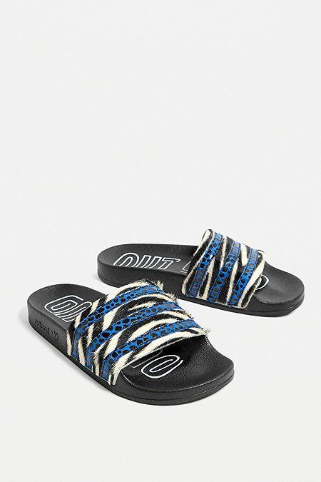 separation shoes 3b017 89032 adidas Originals Adilette Animal Print Pool Sliders