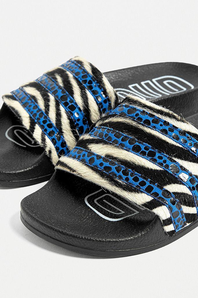 """adidas Originals – Badeschlappen """"Adilette"""" mit Animal Print"""
