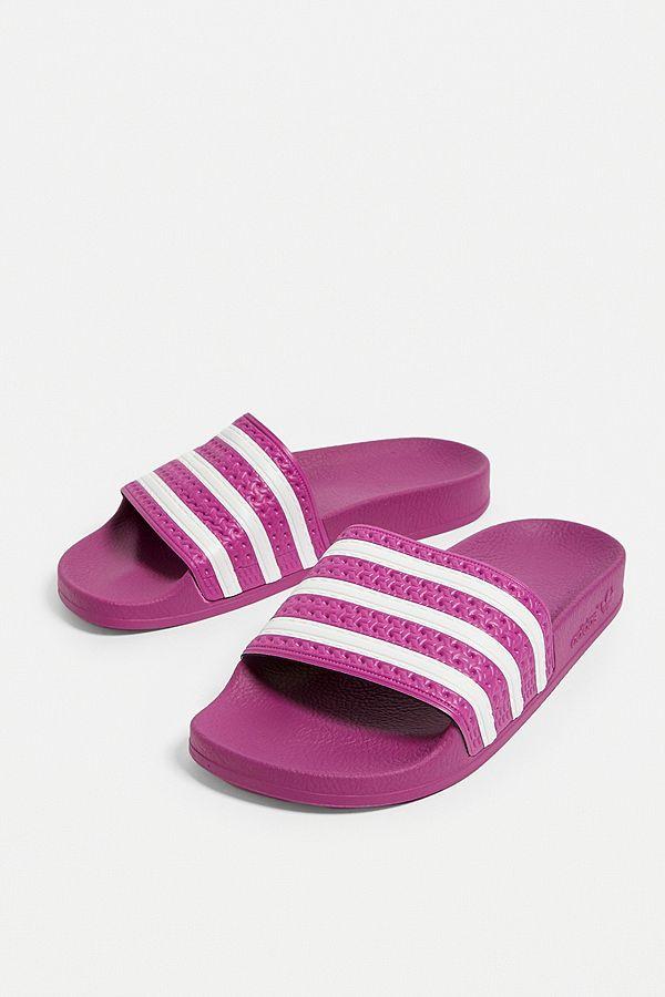 fd8b42040370 Slide View  1  adidas Originals Adilette Violet Pool Sliders