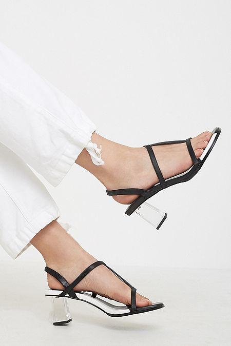 1253e0e297ab E8 By Miista Carmen Black Mid Heel Sandals