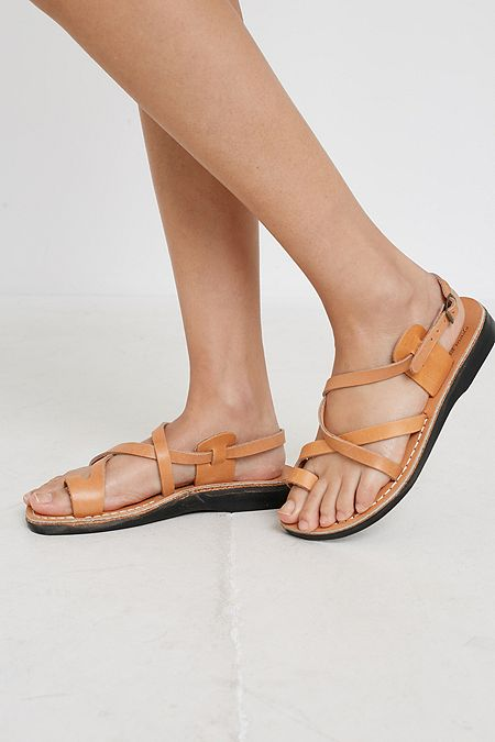 9bb28739993f Jerusalem Sandals Good Shepherd Tan Leather Sandals