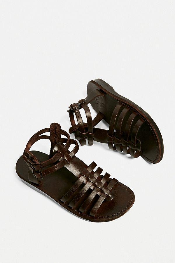 Sandales En Spartiates Leah Marron Jerusalem Sandals Cuir BQdrsChtx