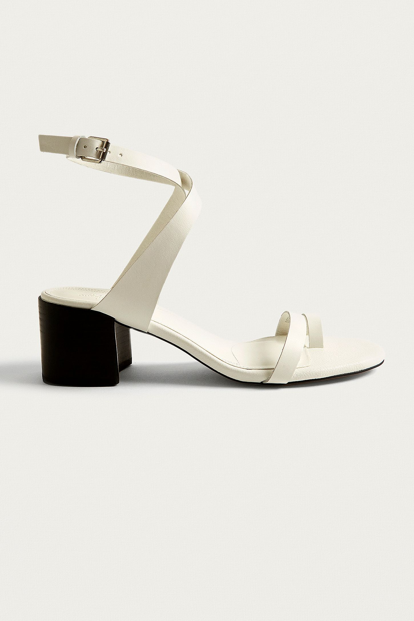 ac4cf64a5e88 UO Halle White Toe Loop Sandals