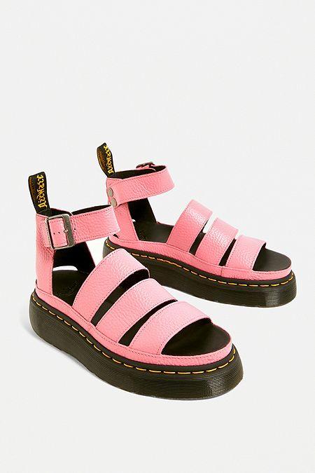 58483acb581577 Dr. Martens Clarissa II Pink Gladiator Sandals