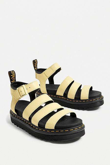 50a0aea72de88 Dr. Martens Blair Yellow Sandals