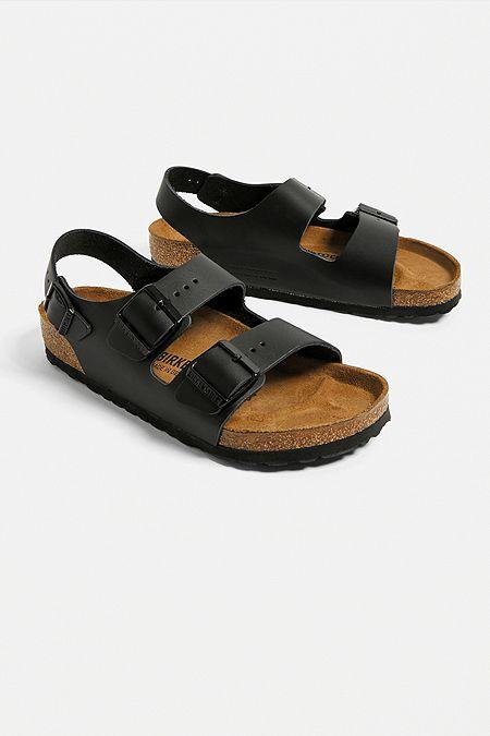 da2d4e5eea52 Birkenstock Milano Black Leather Sandals