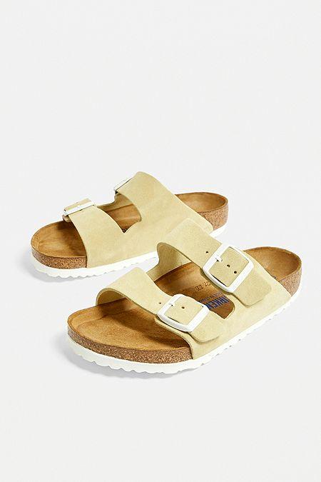 893864538eae Birkenstock Arizona Yellow Suede Sandals