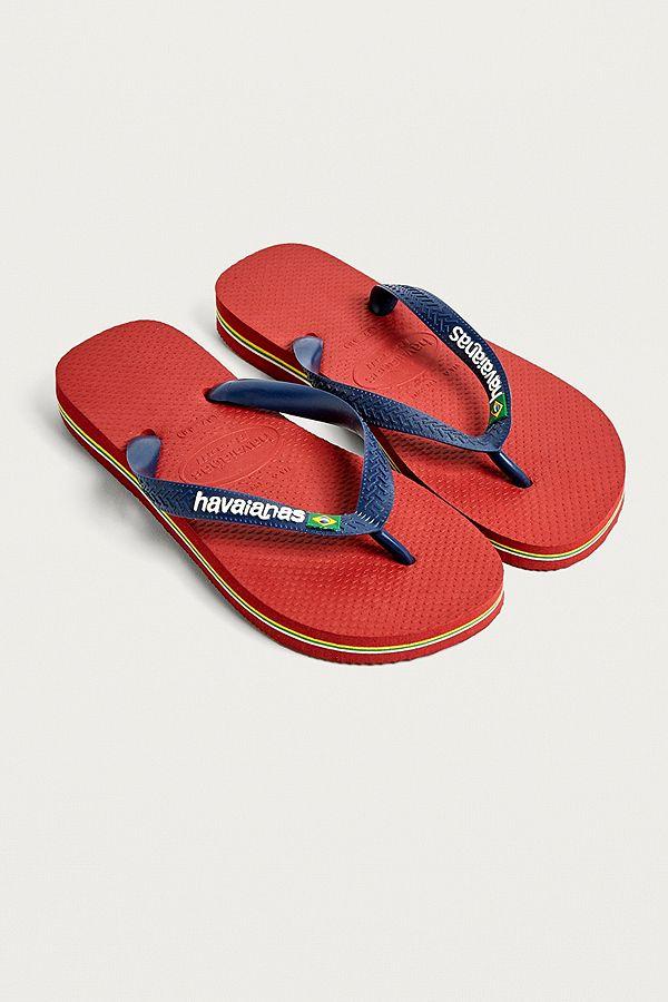 4a4700a18126e Slide View  1  Havaianas Brazil Logo Red Flip-Flops