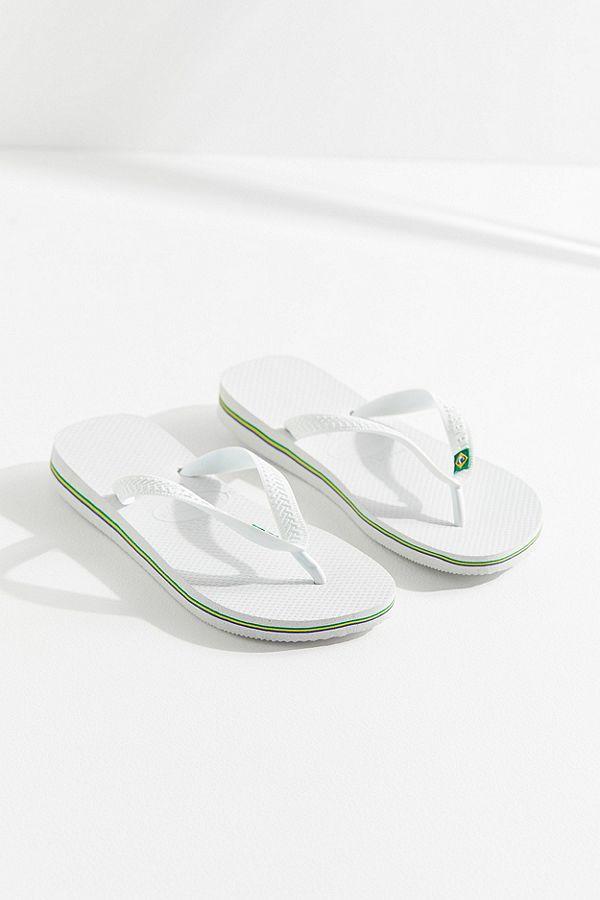 eb9b3bbdcc5 Slide View  1  Havaianas Brazil Logo White Flip-Flops