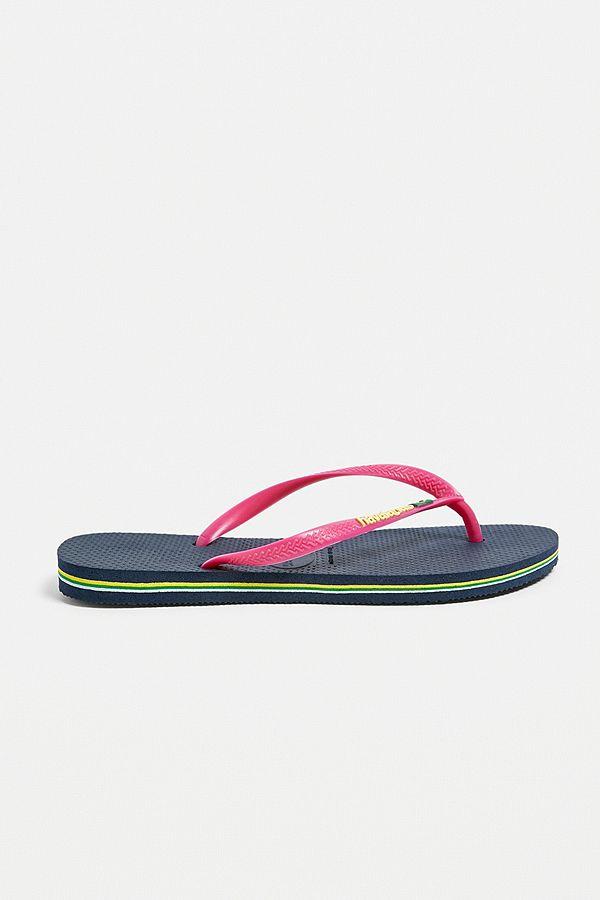 894654461 Slide View  1  Havaianas Slim Navy + Pink Flip-Flops