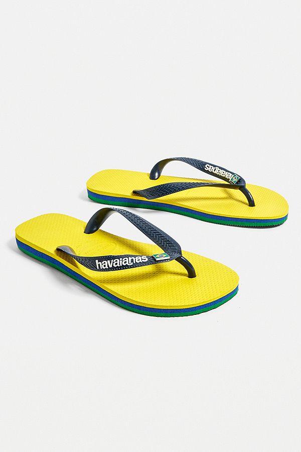 48085fda3 Slide View  1  Havaianas Layers Yellow + Navy Flip-Flops