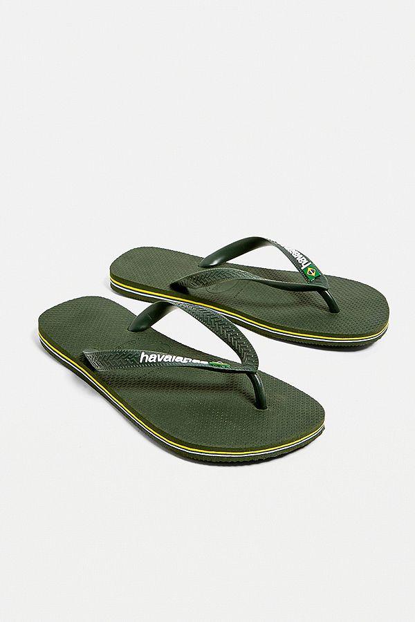 8dff7ea39cb81 Slide View  1  Havaianas Brazil Logo Olive Green Flip-Flops