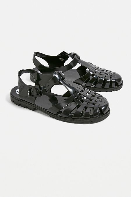 909a070aca4559 JuJu Reilly Black Jelly Sandals