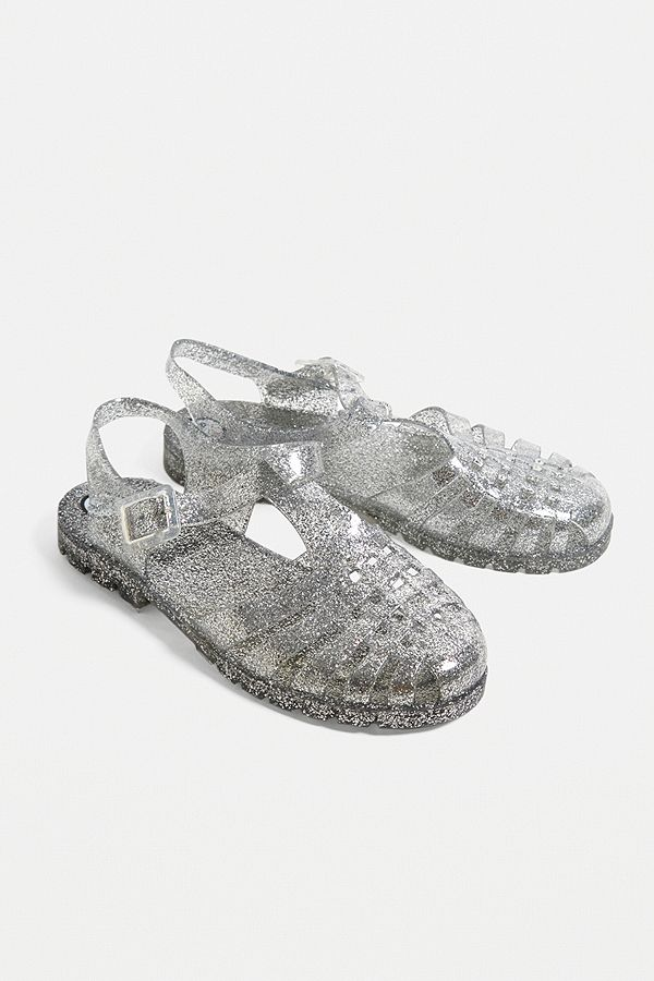 e03bd6d0332481 Slide View  1  JuJu Reilly Clear Glitter Jelly Sandals