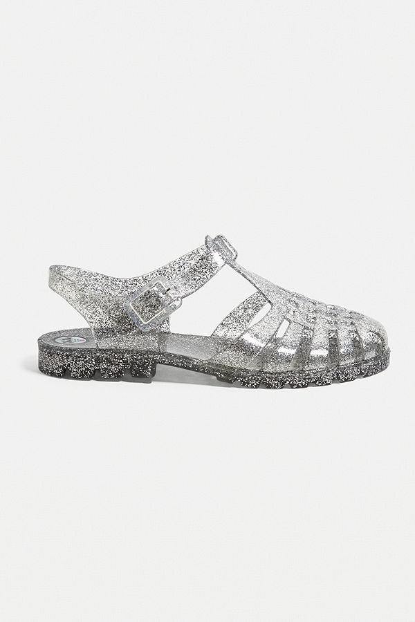 9192a1e2a0560b Slide View  2  JuJu Reilly Clear Glitter Jelly Sandals