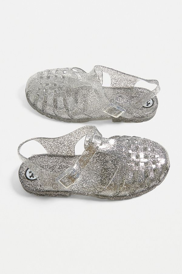 941892c32c0ffb Slide View  3  JuJu Reilly Clear Glitter Jelly Sandals