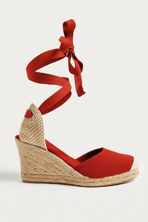 8f39efc0ac0b UO Erin Espadrille Wedge Lace-Up Sandals