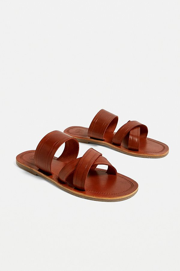 41c5e739f230 Slide View  1  UO Leather Slider Sandals