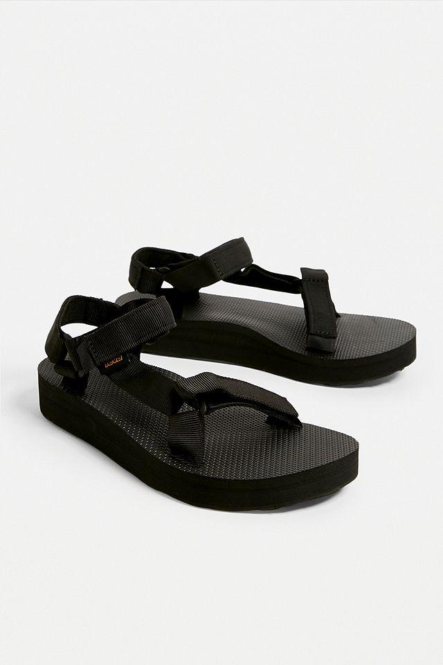 Teva Black Midform Sandals