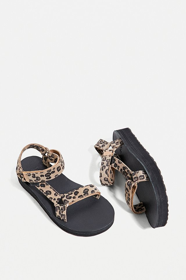 Teva Leopard Print Midform Sandals urban outfitters