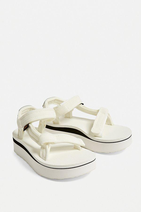 c1b324e52a7a Slide View  1  Teva Universal White Mesh Flatform Sandals