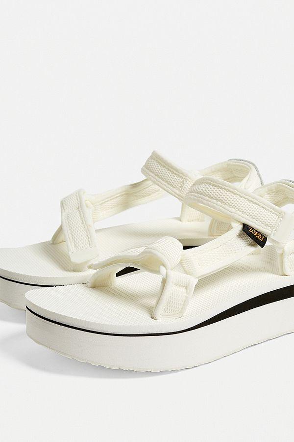 f00399090443 Slide View  4  Teva Universal White Mesh Flatform Sandals