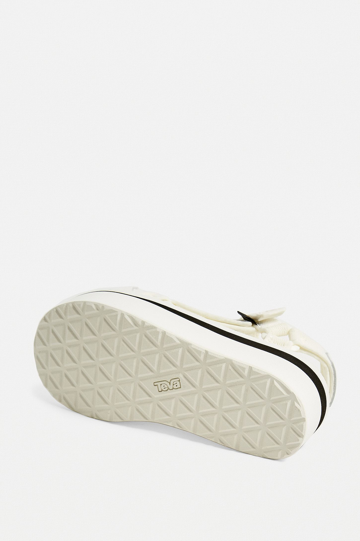 d854a41f48de Slide View  5  Teva Universal White Mesh Flatform Sandals